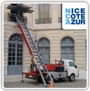Location monte meubles sur Nice